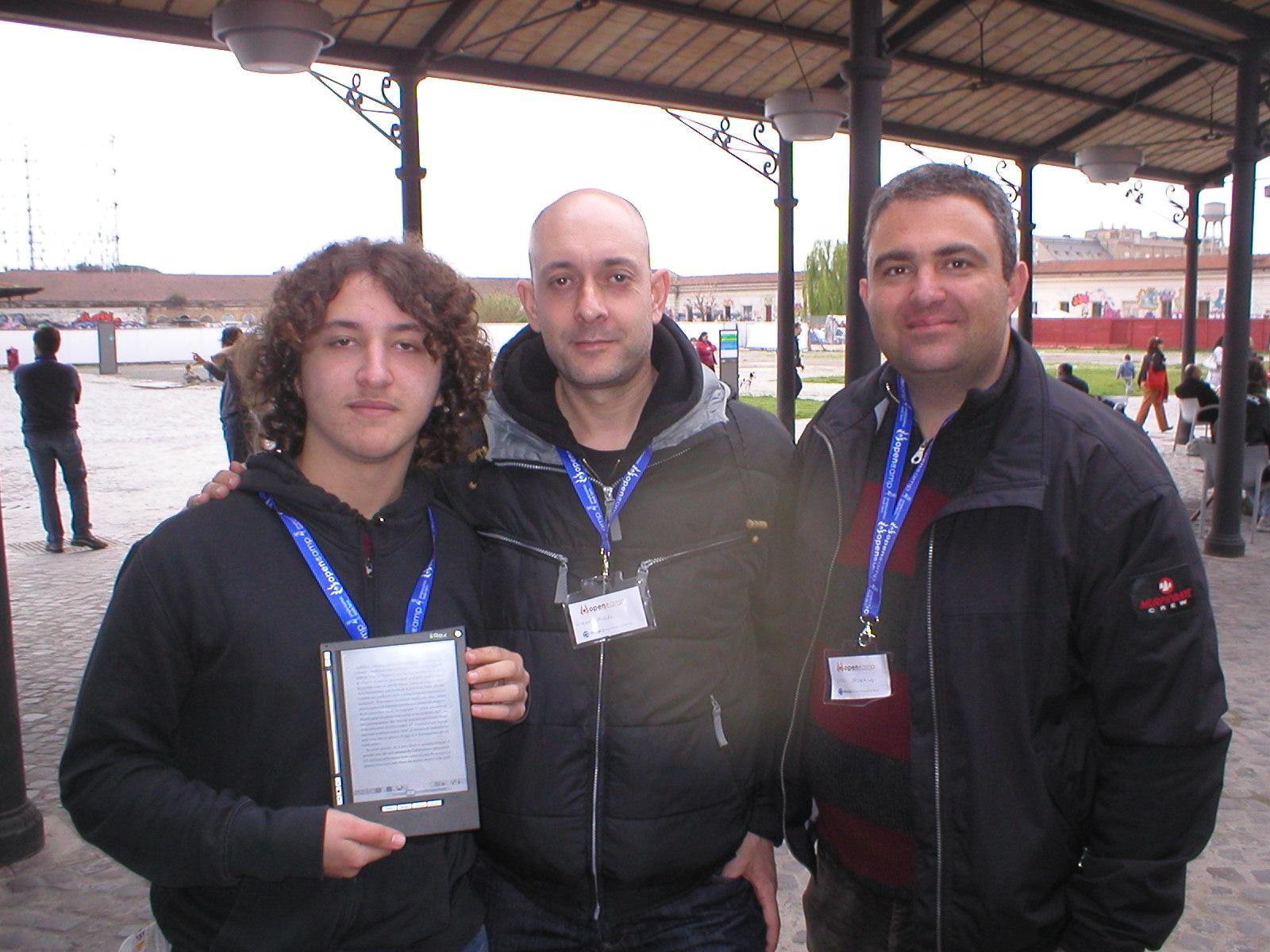 Eugenio e Sandro con il rappresentante di Simplicissimus