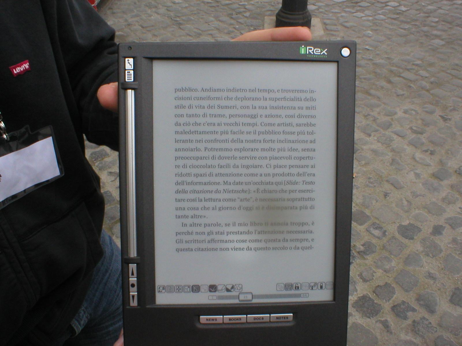 Il lettore di eBook