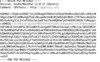 Testo cifrato in ASCII su MAC