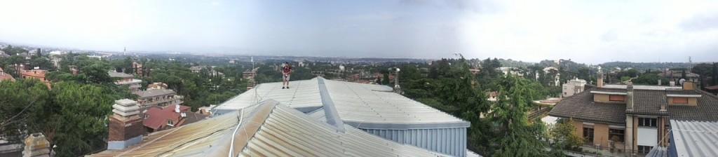 Vista panoramica dal tetto