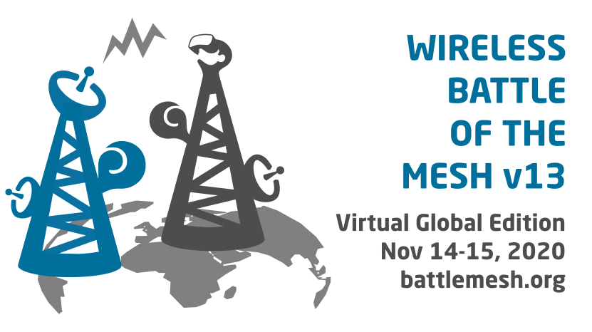 Wireless Battle of the Mesh v13 Virtual Global Edition Nov 14-15, 2020 battlemesh.org